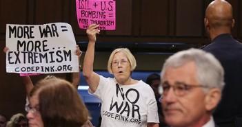 ABD'li savaş karşıtlarından Senato'da protesto eylemi