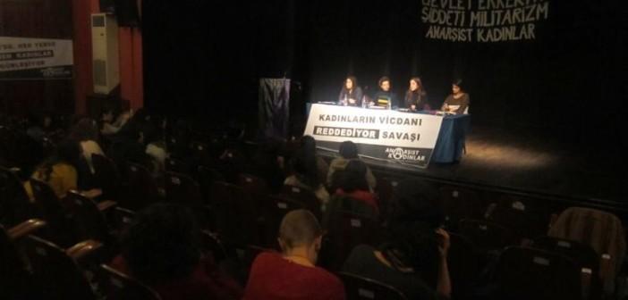 Boğaziçi Üniversitesi'ndeki panelde üç kadın vicdani retlerini açıkladı