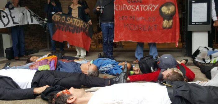 Savaş karşıtları, Paris'te Eurosatory silah fuarına karşı eylem gerçekleştirdiler