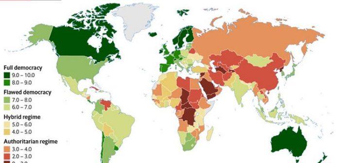 Türkiye Demokrasi Endeksi'nde 167 ülke arasında 110'uncu