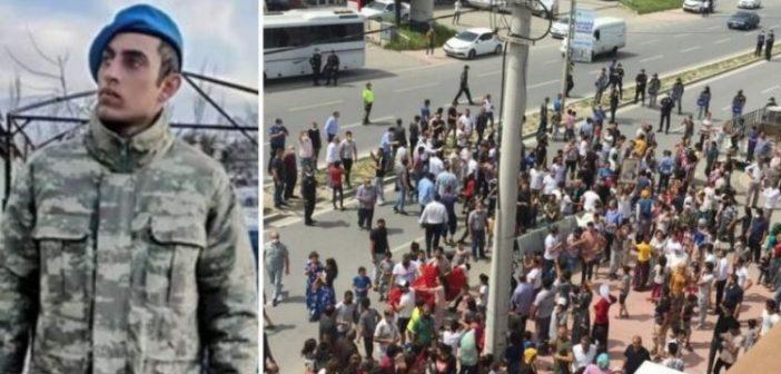 """Suriye'de """"intihar"""" ettiği iddia edilen asker, Sakarya ve Antalya'da Romanları sokağa döktü"""